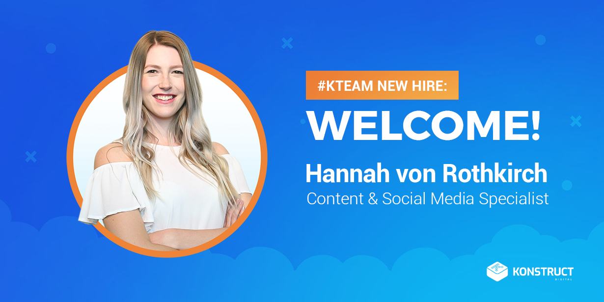 #Kteam new hire Hannah von Rothkirch content & social media specialist