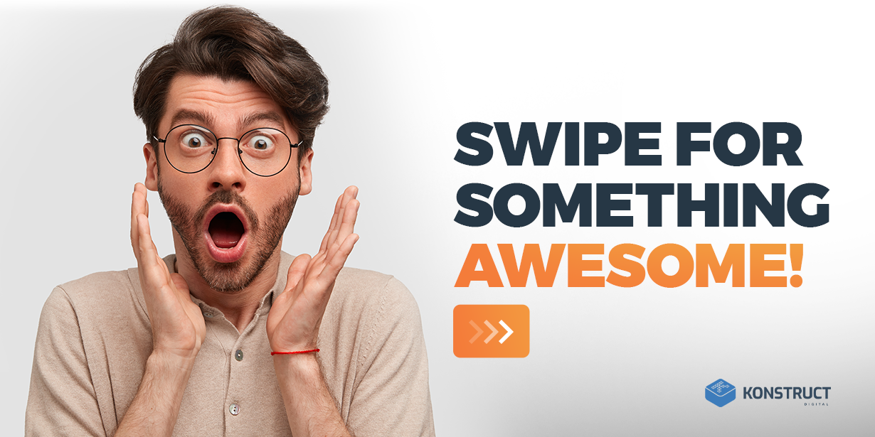 swipe for something awesome