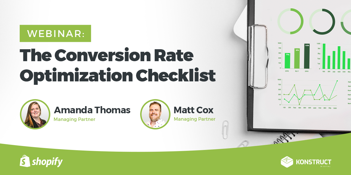 Webinar: The Conversion Rate Optimization Checklist with Amanda Thomas and Matt Cox